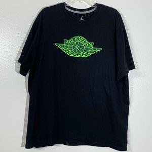 Air Jordan Black & Green Graphic Tee - XXL